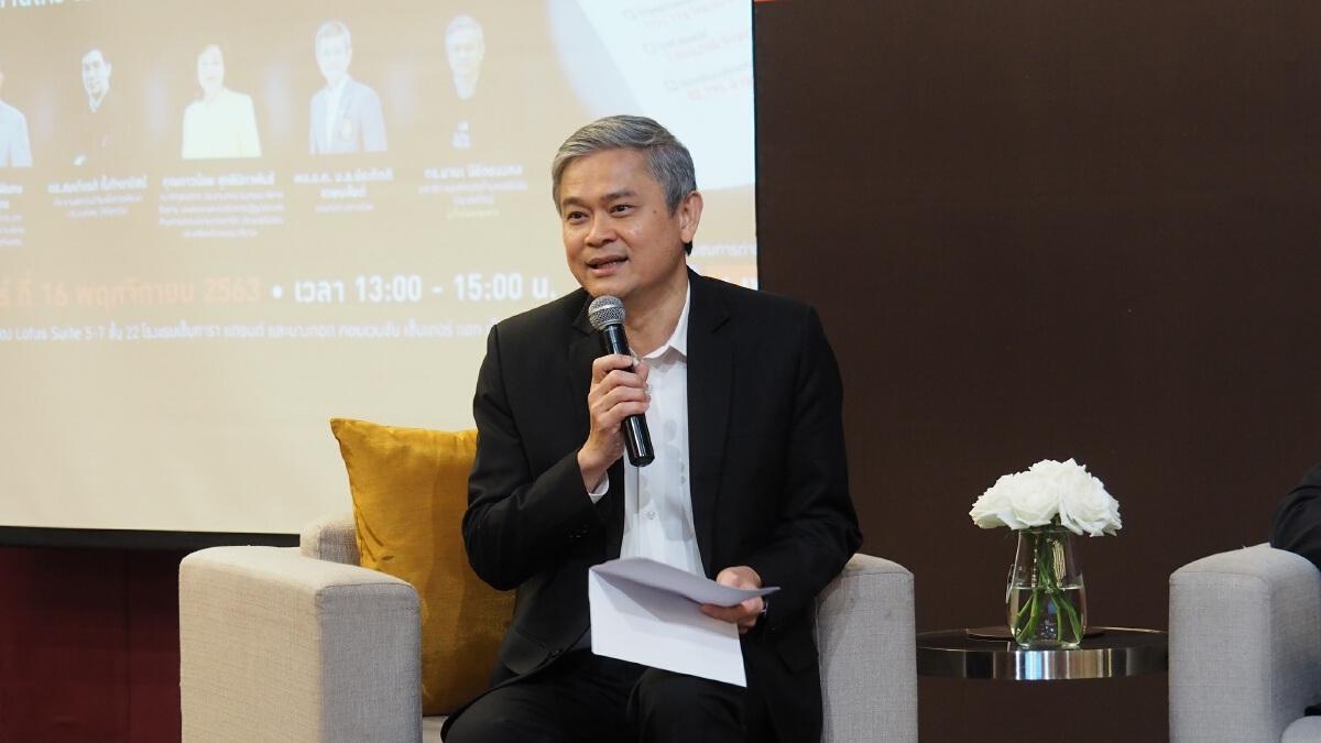 ดร.มานะ นิมิตรมงคล  เลขาธิการองค์กรต่อต้านคอร์รัปชัน (ประเทศไทย) ผู้ดำเนินรายการ