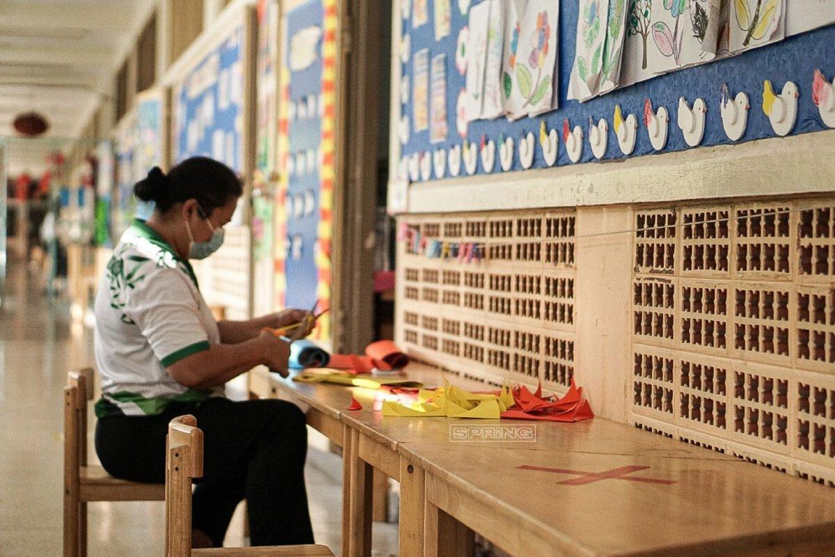 ล้างโรงเรียนรอรับเด็กๆ