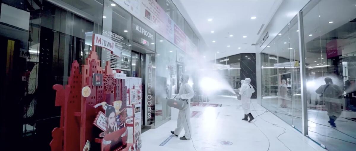 เดอะมอลล์ กรุ๊ป Big Cleaningในห้างกรณีพิเศษ เพื่อความปลอดภัยด้านสุขอนามัยของลูกค้า