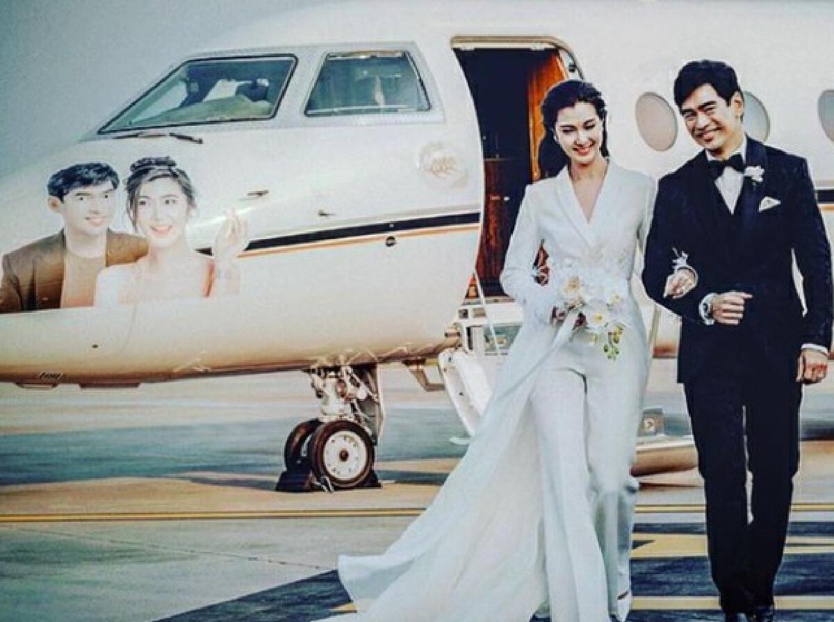 จิ๊บ-จ๊ะจ๋า วิวาห์แล้ว นั่งเครื่องบินส่วนตัวจดทะเบียนสมรสที่หัวหิน