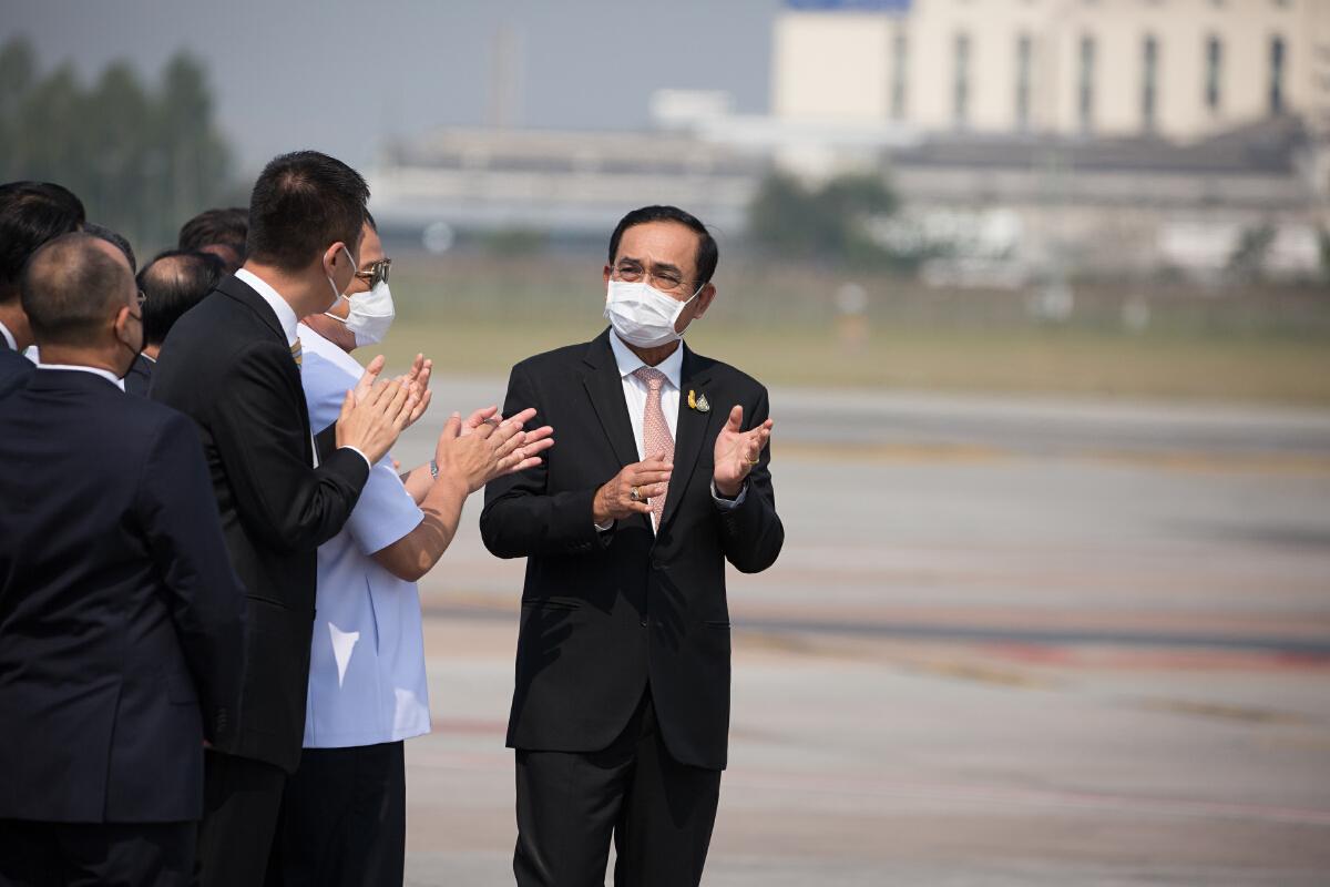 พล.อ.ประยุทธ์ จันทร์โอชา นายกรัฐมนตรี เป็นประธานรับมอบวัคซีน