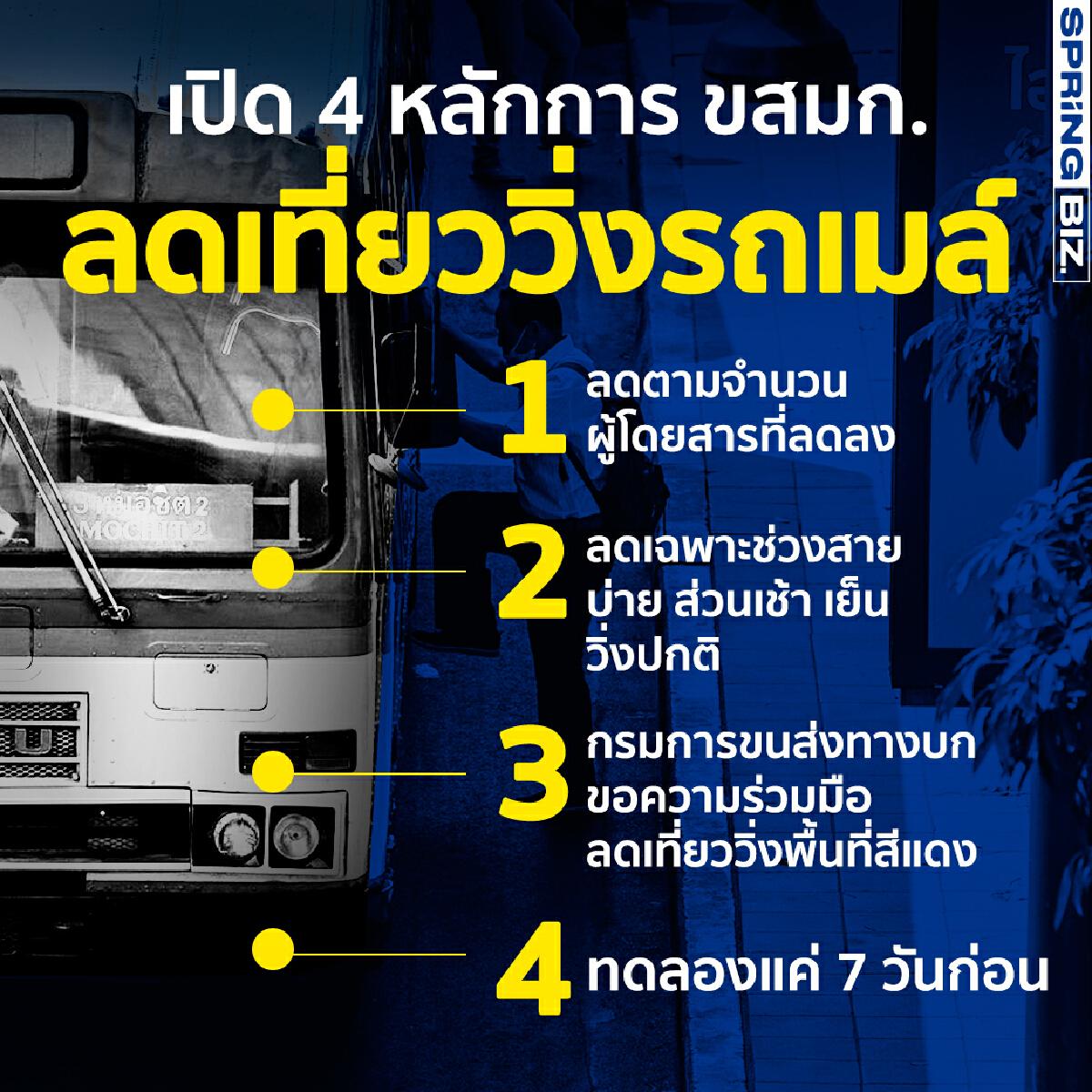 เปิด 4 หลักการ องค์การขนส่งมวลชนกรุงเทพฯ ลดเที่ยววิ่งรถเมล์ขสมก.