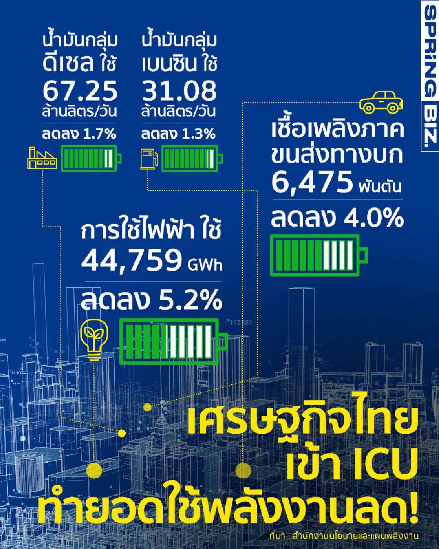 ดูชัด ๆ ว่าคนไทยใช้พลังงานอะไรลดลงบ้าง