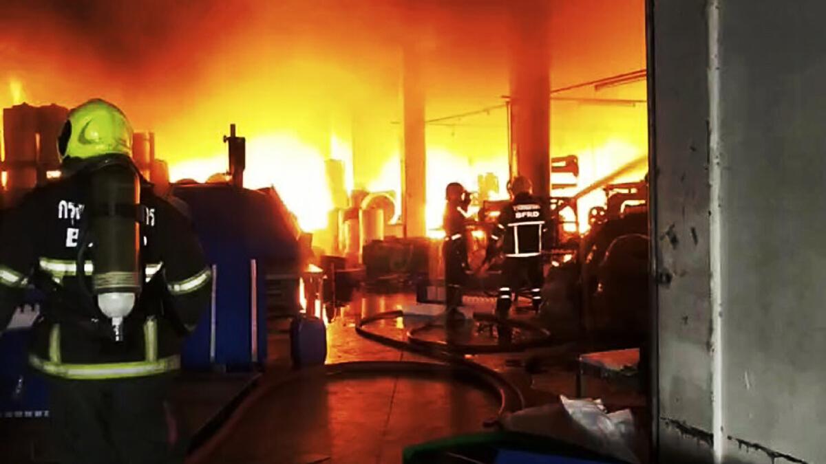 ไฟไหม้โรงงานพลาสติก สุขาภิบาล 5