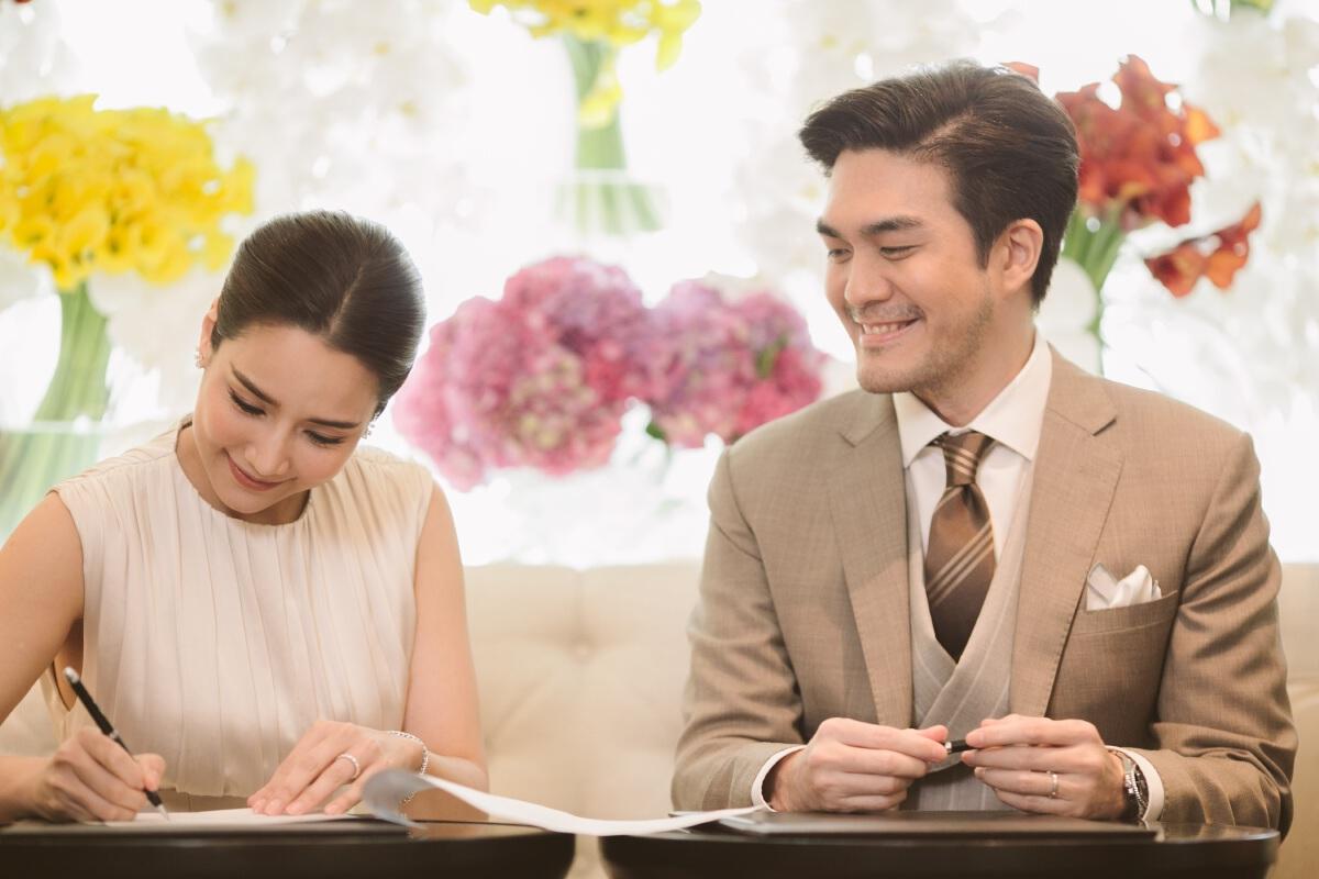 จั๊กจั่น อคัมย์สิริ-เค วัฒนา จดทะเบียนสมรสอย่างหวานชื่น เริ่มต้นชีวิตคู่