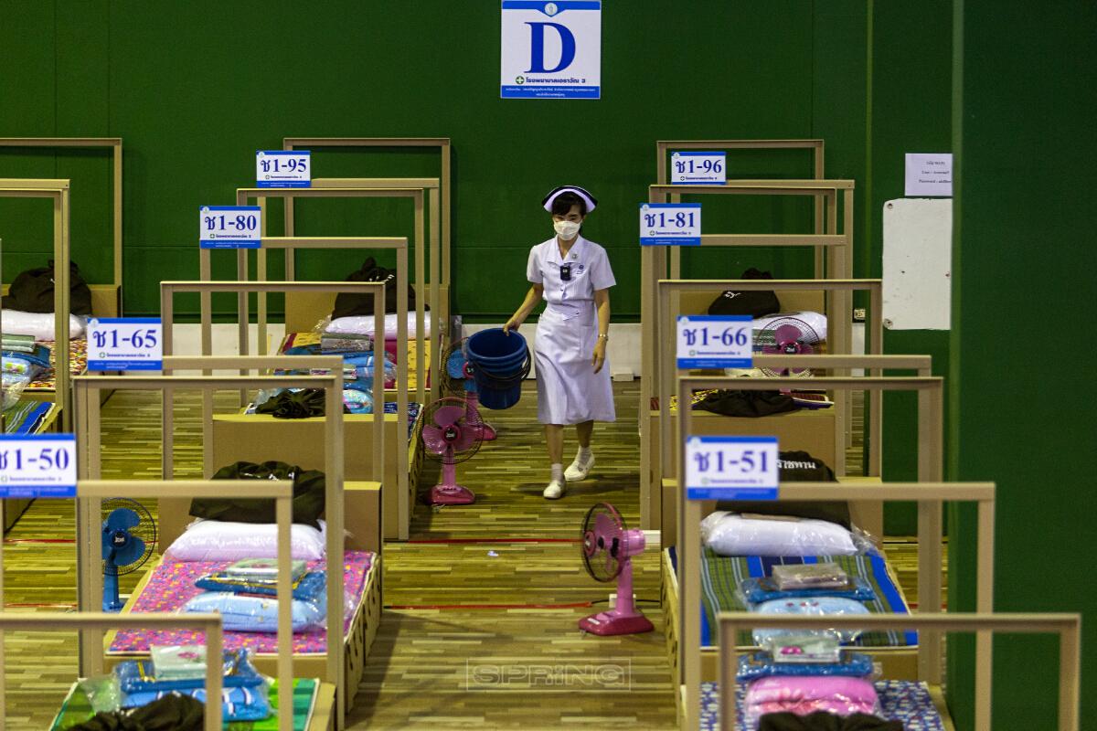 กทม.เปิดรพ.สนามแห่งที่ 5 รองรับผู้ป่วยโควิด19  ที่เพิ่มจำนวนขึ้นมาก