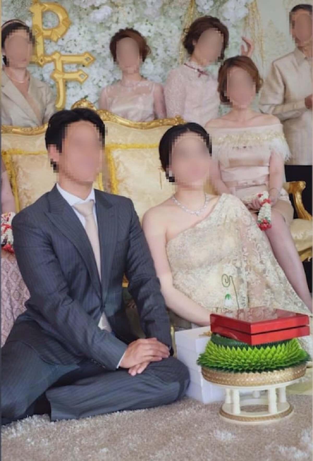 หลุดว่อนเน็ตรูปงานแต่งงาน คนโยงเป็นนักธุรกิจพ่อหม้าย