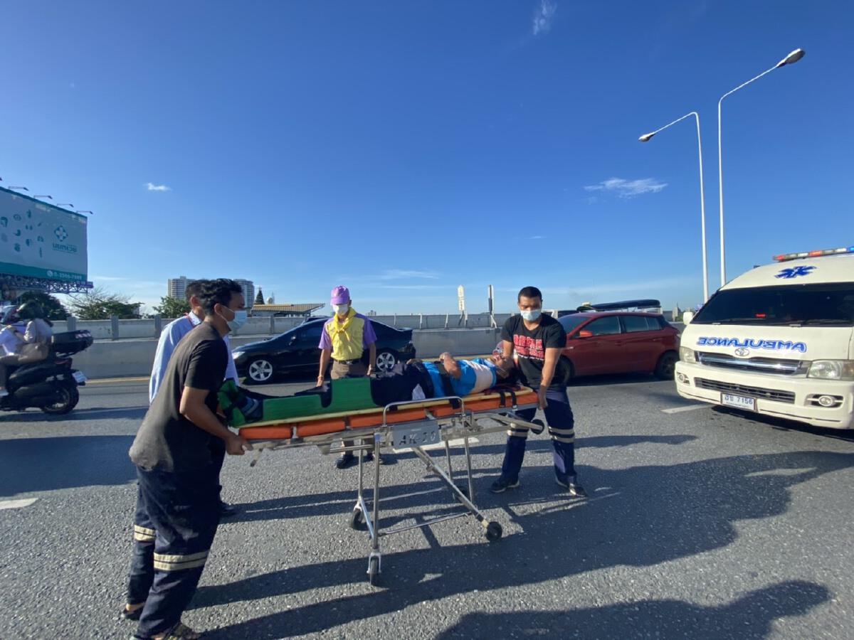 ชื่นชม ผบช.ก.สั่งหยุดรถลงไปช่วยเหลือชายบาดเจ็บจากอุบัติเหตุบนสะพาน