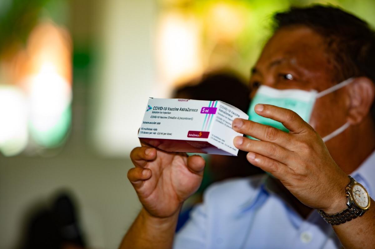"""สธ. ประเดิมฉีด """"วัคซีนแอสตร้าเซนเนก้า""""  ล็อตแรกของประเทศไทย"""