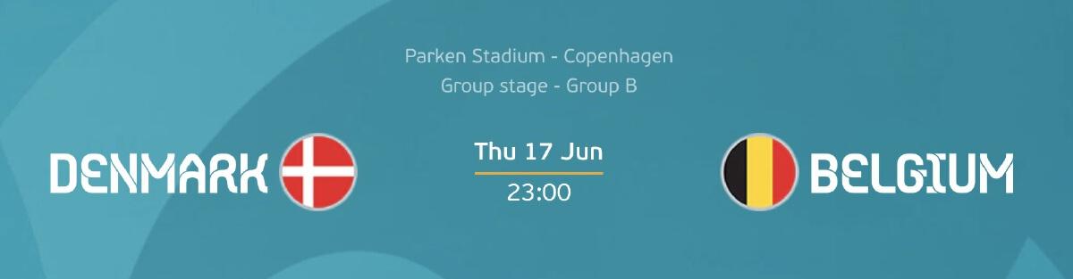 เดนมาร์ก - เบลเยี่ยม ดูบอลสด ยูโร 2020/21 โปรแกรมบอล 17 มิ.ย. 64 เวลา 23.00 น.