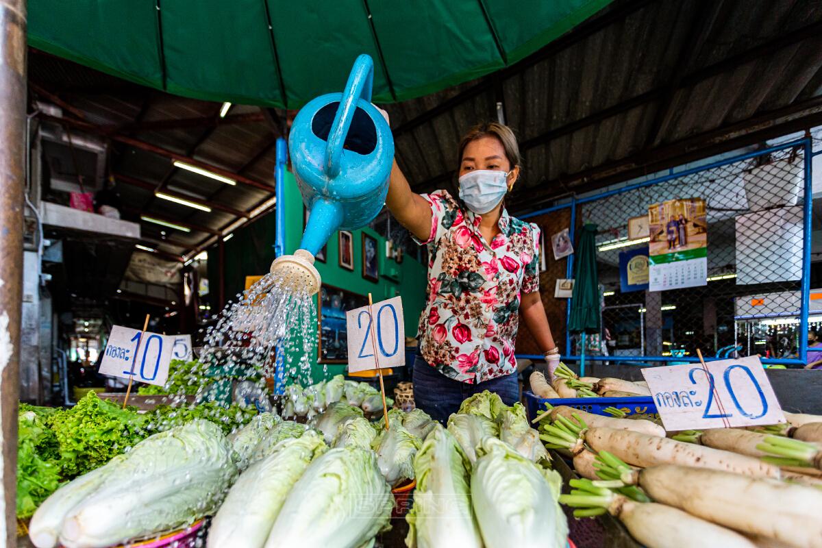 """""""นนทบุรีเปิดตลาด"""" หลังปิดตลาดชั่วคราว เหตุตรวจพบผู้ติดเชื้อโควิด-19"""