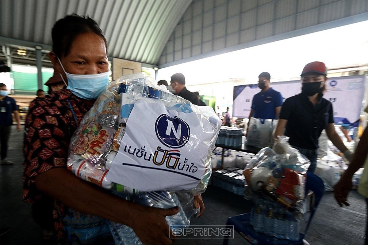 เนชั่นปันน้ำใจ ช่วยเหลือผู้ประสบภัยโควิด-19 ณ ชุมชนโรงหมู คลองเตย