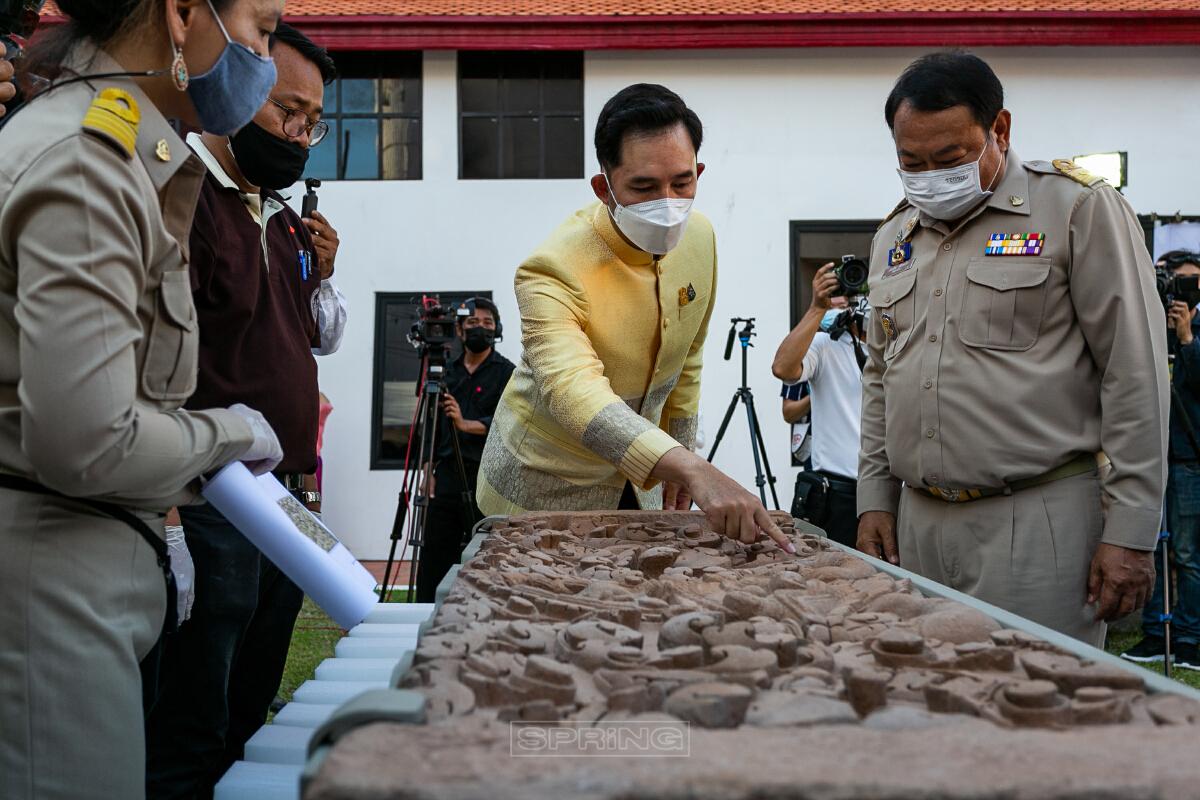 บวงสรวงต้อนรับ ทับหลังปราสาทหนองหงส์ จังหวัดบุรีรัมย์ กลับประเทศไทย