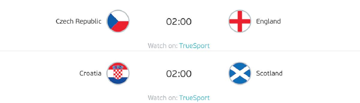 ดูบอลยูโร 2020/21 เช็ก - อังกฤษ โปรแกรมถ่ายทอดสด วันอังคารที่ 22 มิ.ย. 64