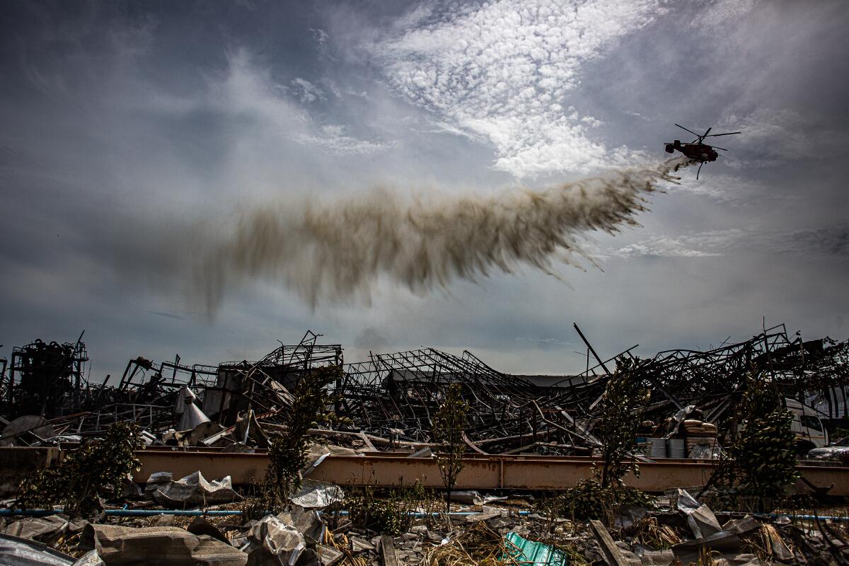 ประมวลภาพ เหตุการณ์ไฟไหม้ โรงงานสารเคมี บริษัท หมิงตี้ เคมิคอล จำกัด