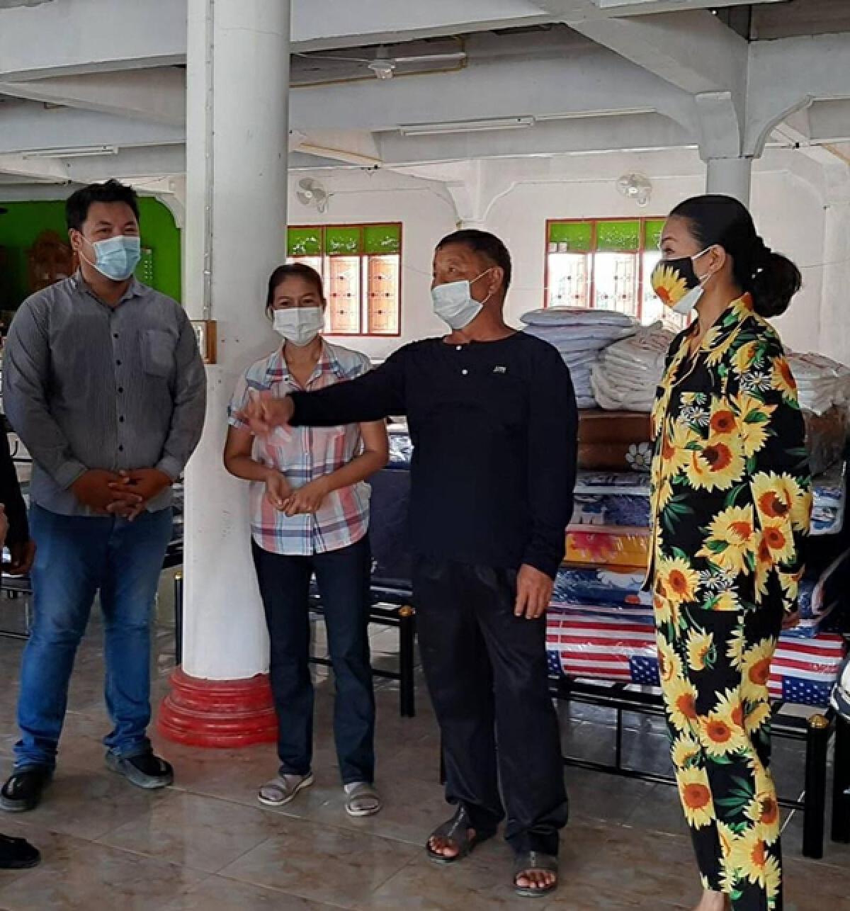 กบ ปภัสรา ช่วยทำโรงพยาบาลสนาม 50 เตียงที่จ.สุพรรณบุรี ช่วยผู้ป่วยโควิด-19