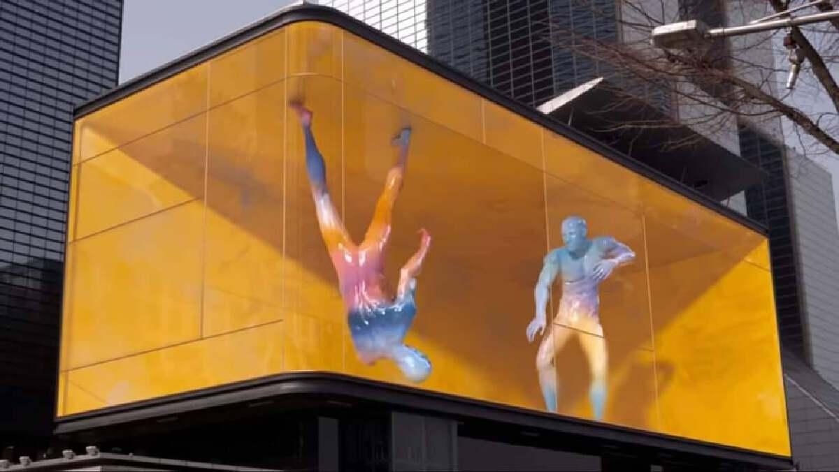 ART PERFORMANCE ผ่านทางป้ายโฆษณาบิลบอร์ด