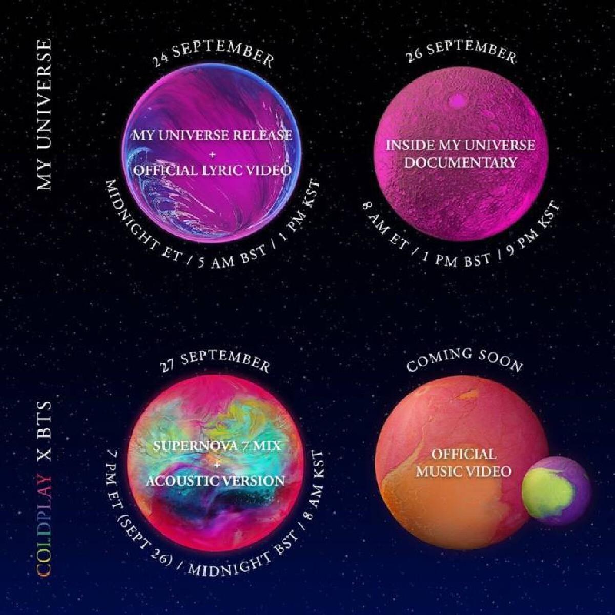 """Coldplay - BTS"" ปล่อยเพลงใหม่ My Universe การ Collaboration ระดับโลก"