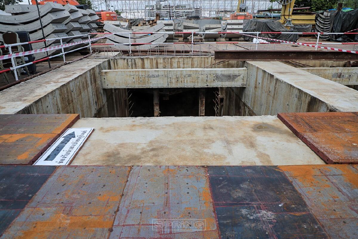 ก่อสร้างอุโมงค์ระบายน้ำ