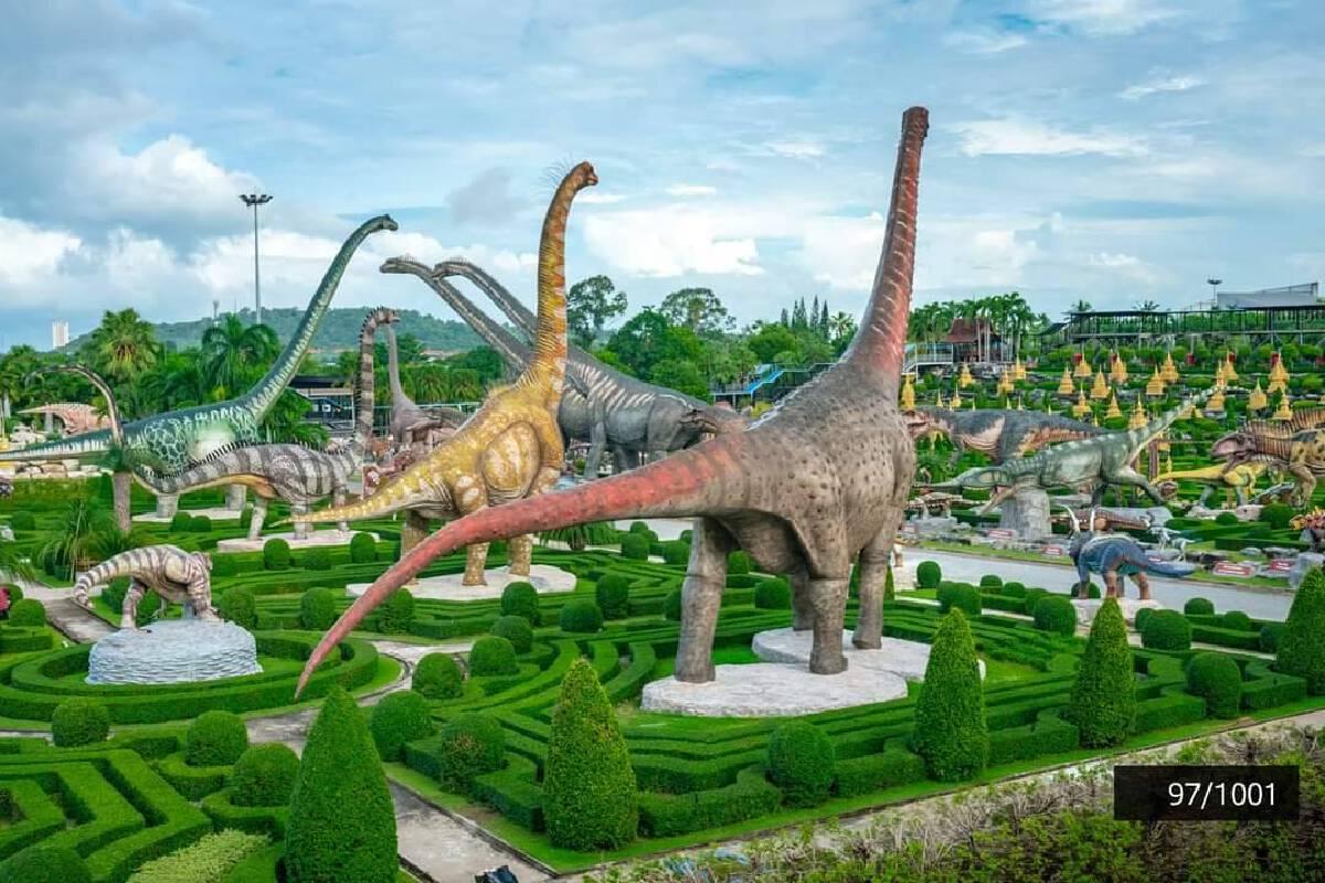 สวนนงนุชพัทยา ได้รับเกียรติเป็น 1 ใน 25 UNSEEN New Series โซนหุบเขาไดโนเสาร์