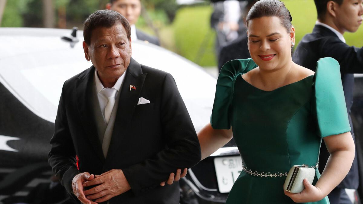 ซาร่า ดูเตอร์เต คาร์ปิโอ ลูกสาวของประธานาธิบดีโรดริโก ดูเตอร์เต