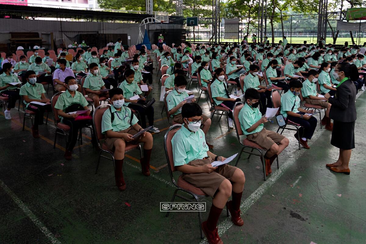รร.สามเสนฯ คิกออฟฉีดไฟเซอร์นักเรียน พร้อมเปิดเทอม