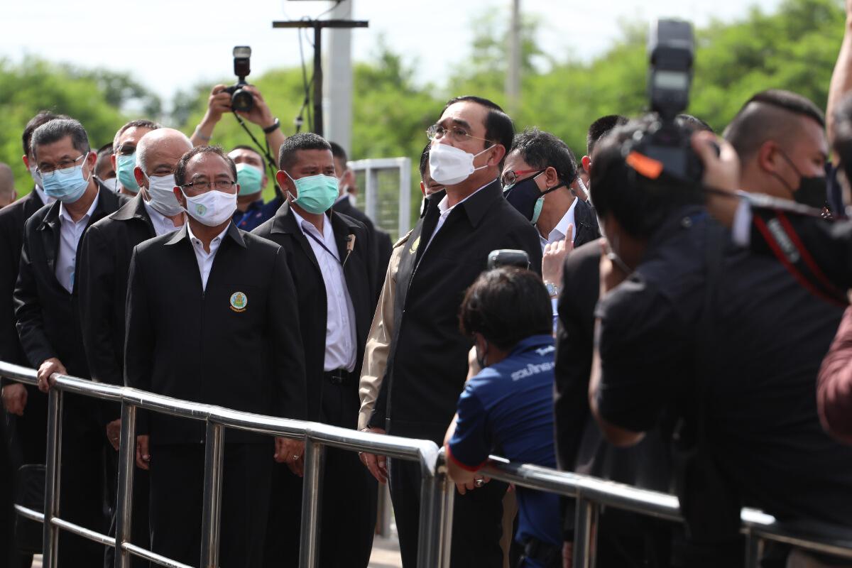 พล.อ.ประยุทธ์ จันทร์โอชา นายกฯ ตรวจความพร้อมแผนป้องกันน้ำท่วมในพื้นที่เจ้าพระยาตอนล่าง