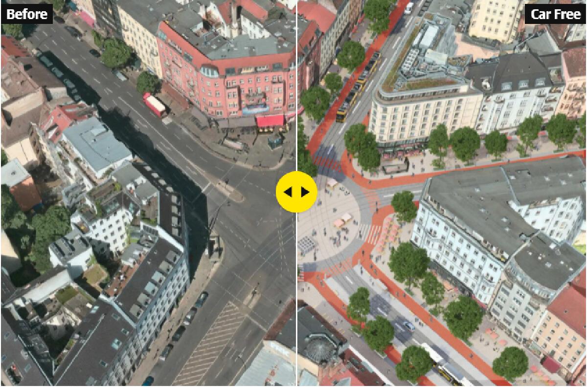 ภาพเปรียบเทียบการวางผังเมืองของแคมเปญ