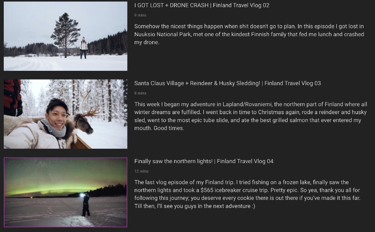 คอนเทนต์ในหมวด Social Media Content Creator โดย Shawney Depp ชาวสิงคโปร์ที่ระบุว่า เป็นทั้ง Travel Content Creator, Professional Film maker และ Vlogger