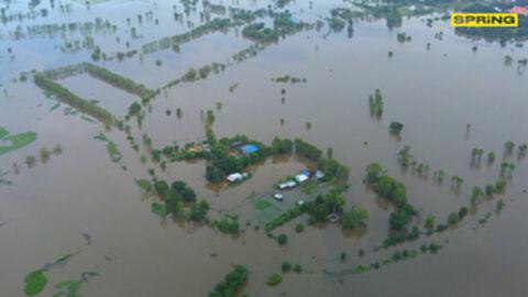 พายุเตี้ยนหมู่ ถล่มแล้ว 33 จังหวัด ชาวบ้าน 3 แสนครัวเรือน เดือดร้อน ดับ9ราย